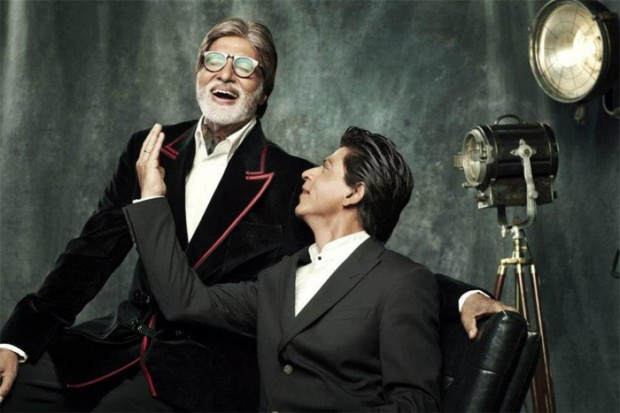 Shah Rukh Khan with Amitabh