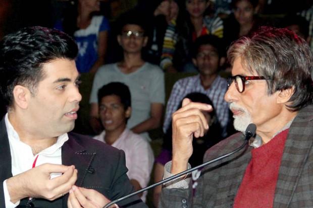 Karan Johar with Amitabh Bachchan