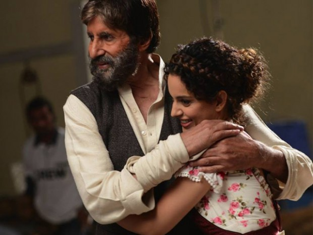 Kangana Ranaut with Amitabh Bachchan