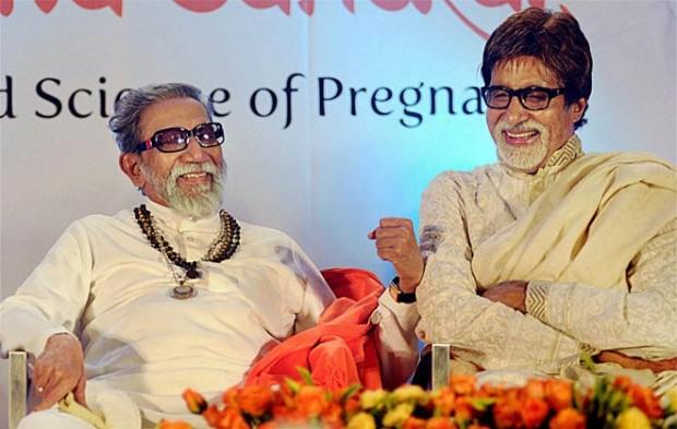 Bal Thackeray with Amitabh Bachchan