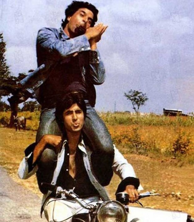 Amitabh and Dharmendra in Sholay