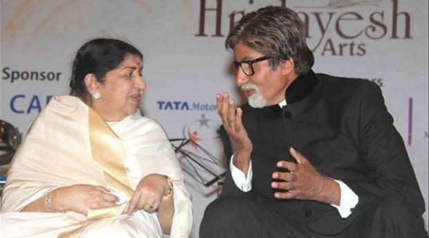 Amitabh with Legendary Singer Lata Mangeshkar