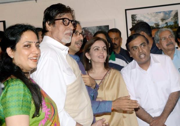 Mukesh and Nita Ambani with Amitabh