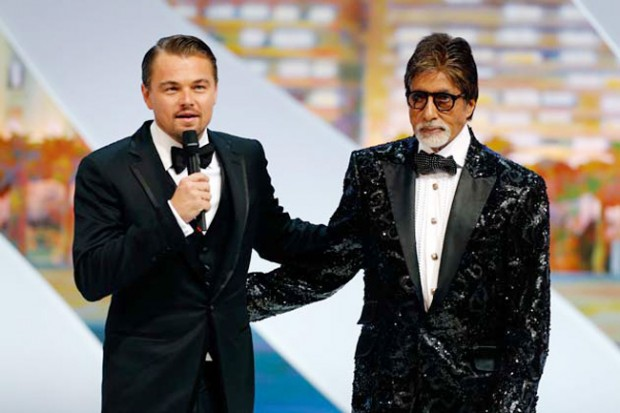Leonardo DeCaprio and Amitabh Bachchan