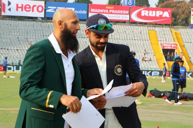 Virat Kohli and Hashim Amla during Toss