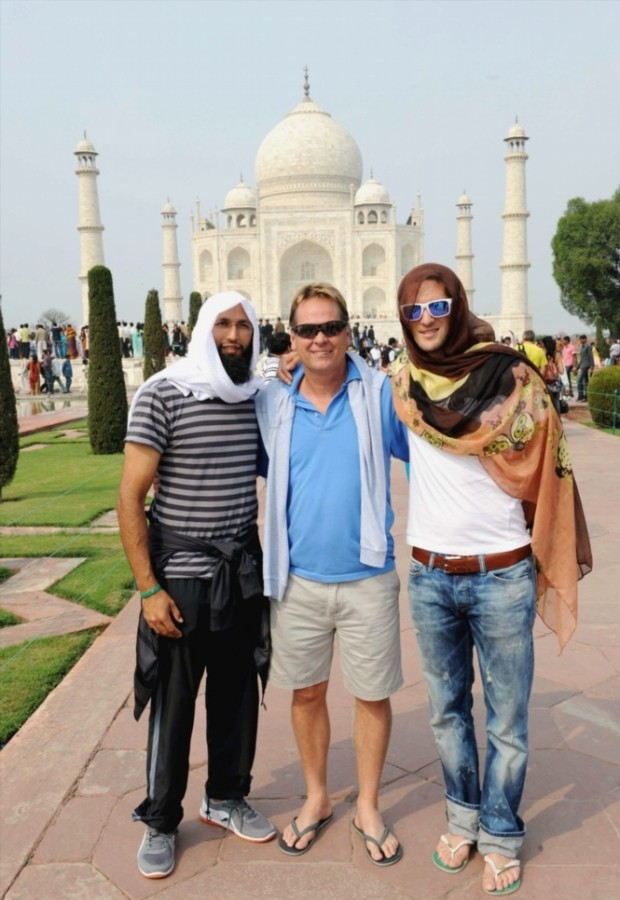 Hashim Amla at Taj Mahal