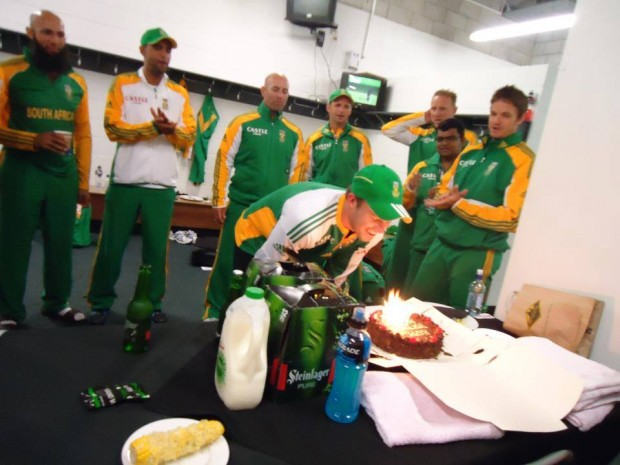 Hashim Amla at ABD Birthday Party