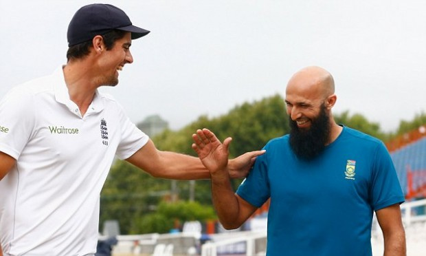 Alstair Cook with Hashim Amla