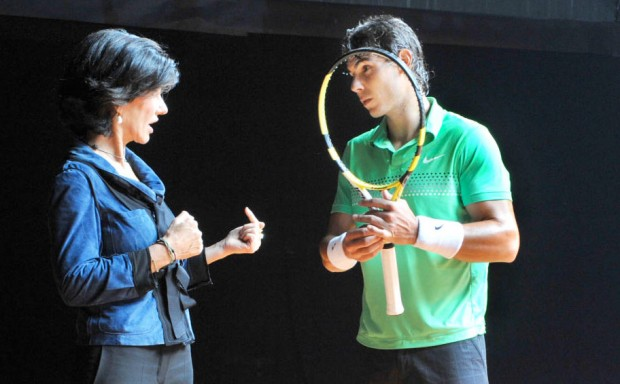 Ana Patricia Botin With Rafael Nadal