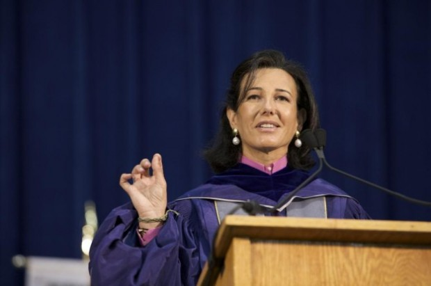 Ana Patricia Botin during his speech at the University of George Town
