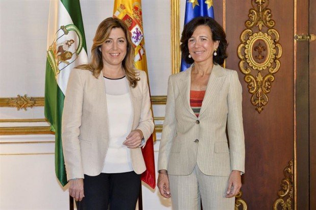 Susana Diaz and Ana Botin