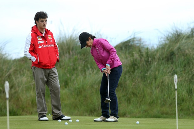 Ana Patricia Botin Playing Golf
