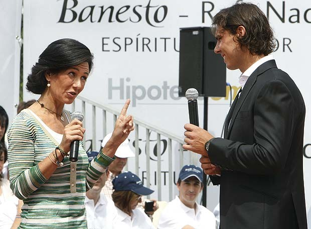 Ana Patricia Botín With Tennis Player Rafa Nadal