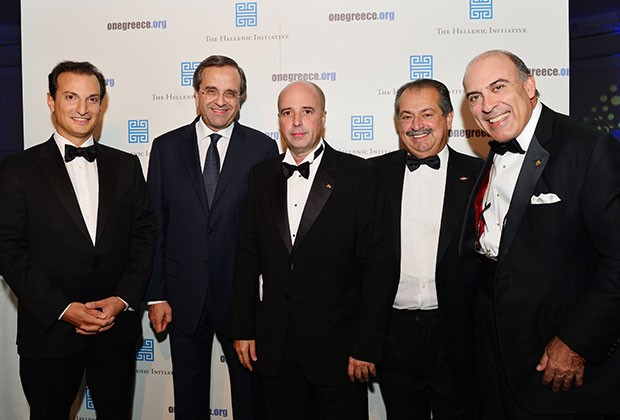 Andrew with George M. Logothetis,  Antonis Samaras,  Andreas Dracopoulos and Muhtar Kent