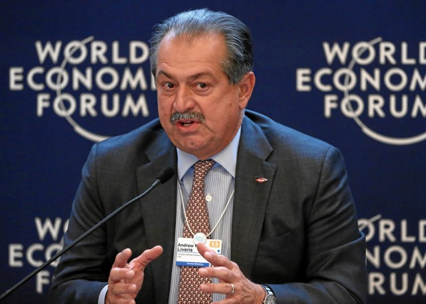 Andrew Liveris speaking at World Economic Forum