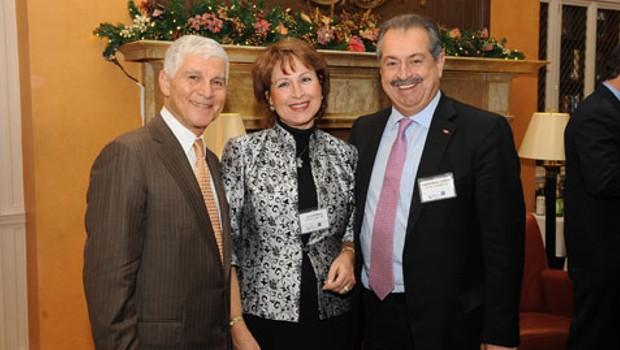 Thomas Constance, Olga Bornozis and Andrew Liveris
