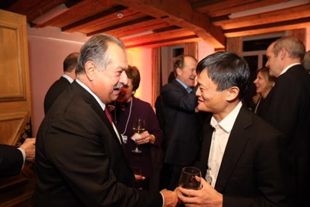 Dow CEO Andrew Liveris with Jack Ma, Founder of Alibaba Group, in Switzerland, 2016