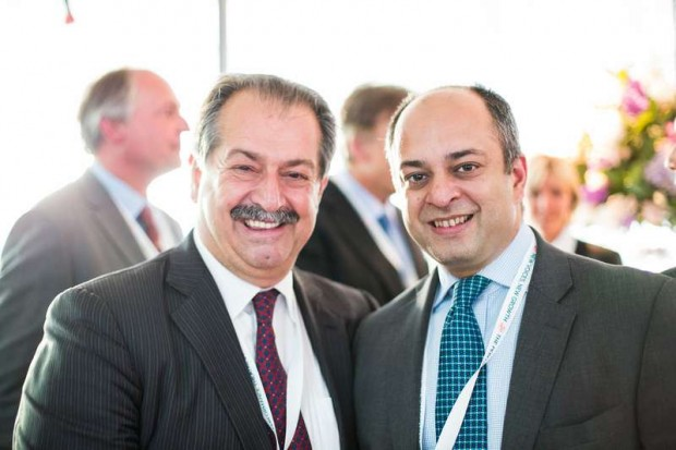 Andrew Liveris with Ashish Bhatt Managing Director for Infrastructure at Xyntéo