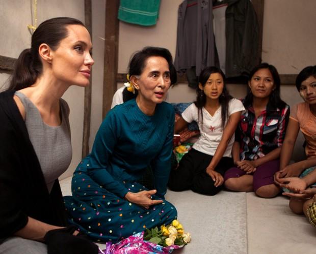 Angelina Jolie Pitt with Aung San Suu Kyi