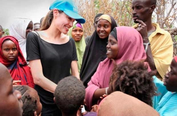 UNHCR Brand Ambassador Angelina Jolie in Kenya