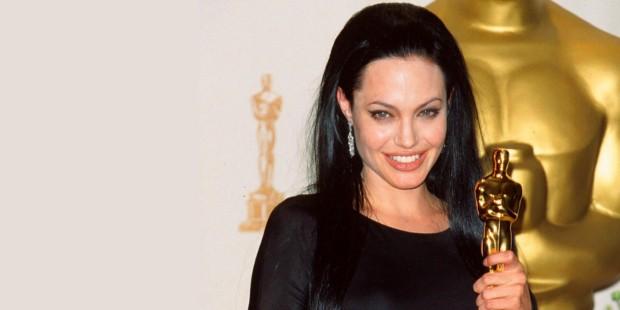 Angelina Jolie with Her Academy Award