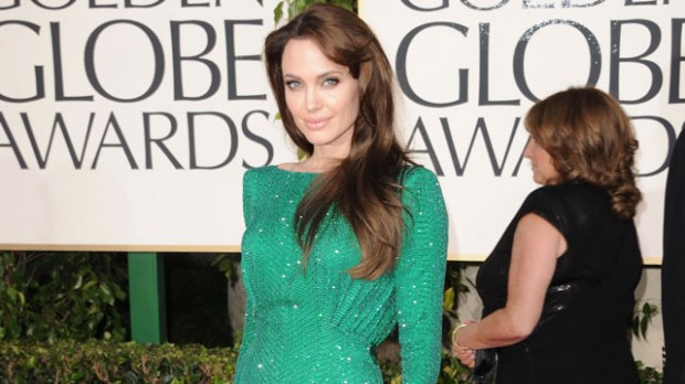 Stunning Angelina at Golden Globes
