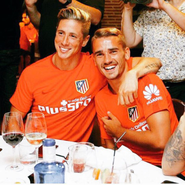 Antoine with Fernando Torres