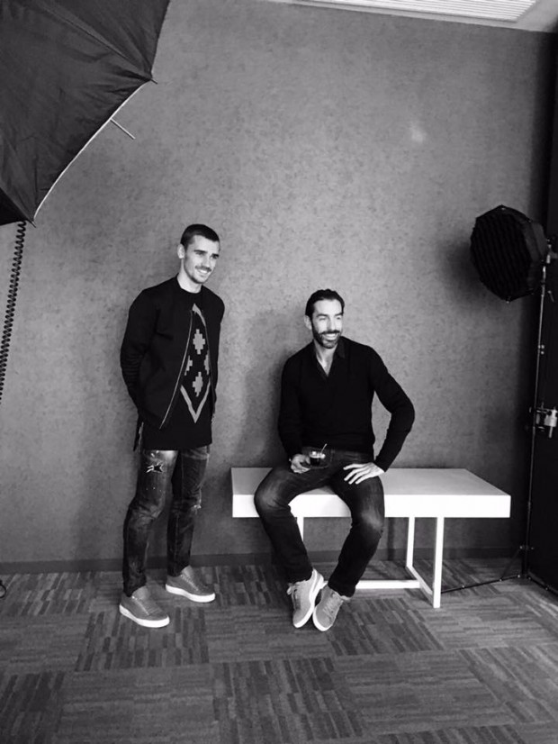 Antoine and Robert Pires for a photoshoot
