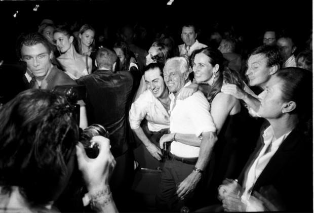 Giorgio Armani at the One Night Only Giorgio Armani fashion show and party