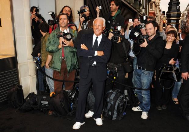 Giorgio Armani at Fashion's Night Out in London