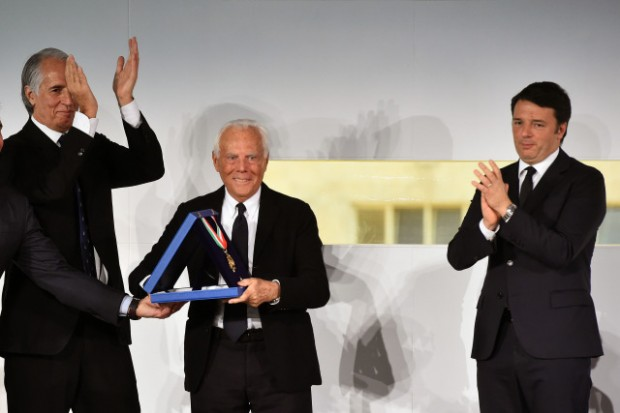 Giorgio Armani Honored with Collare d'oro al merito sportivo