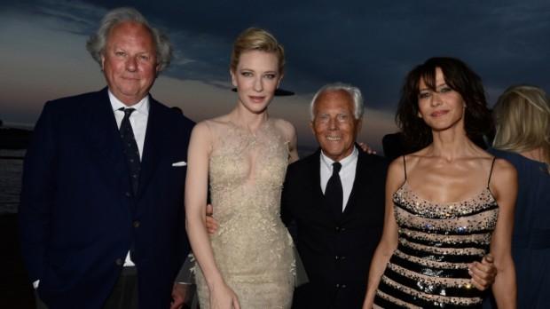 Graydon Carter, Cate Blanchett, Giorgio Armani and Sophie Marceau