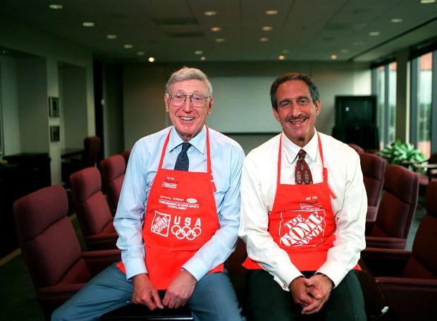 Arthur Blank With Home Depot CEO Bernie Marcus