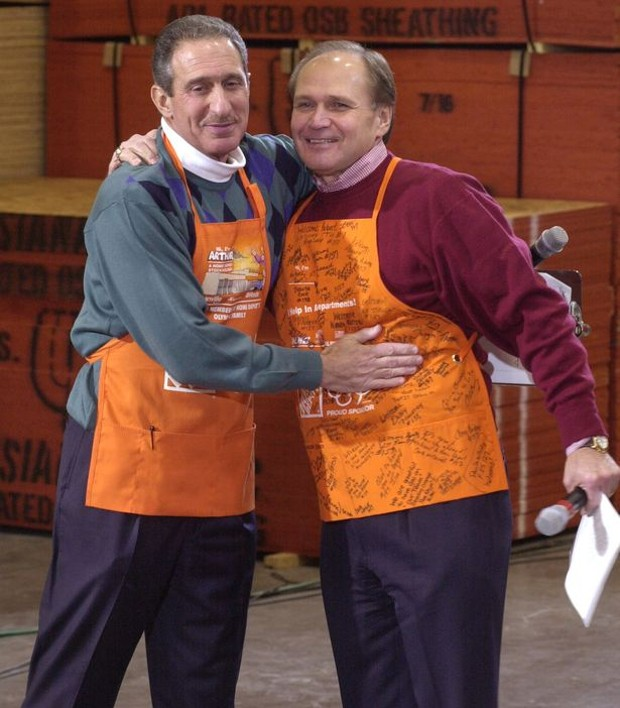 Arthur Blank With Home Depot chief executive Robert Nardelli