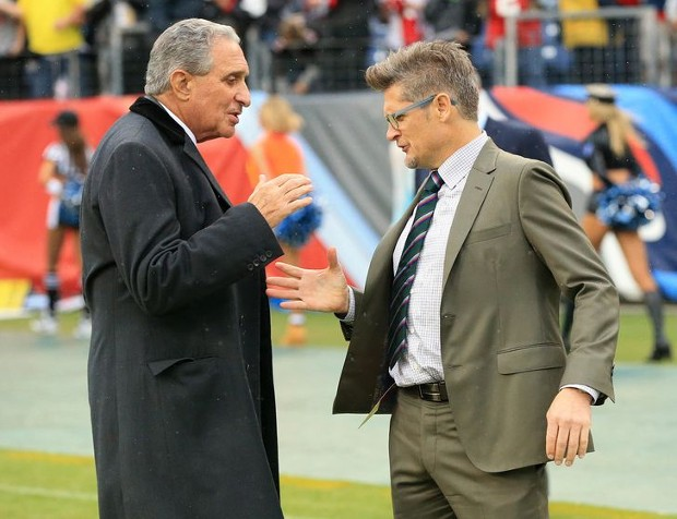Arthur Blank With Falcons General Manager Thomas Dimitroff