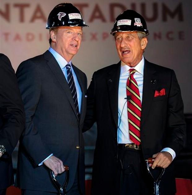 Arthur Blank With NFL football commissioner Roger Goodell