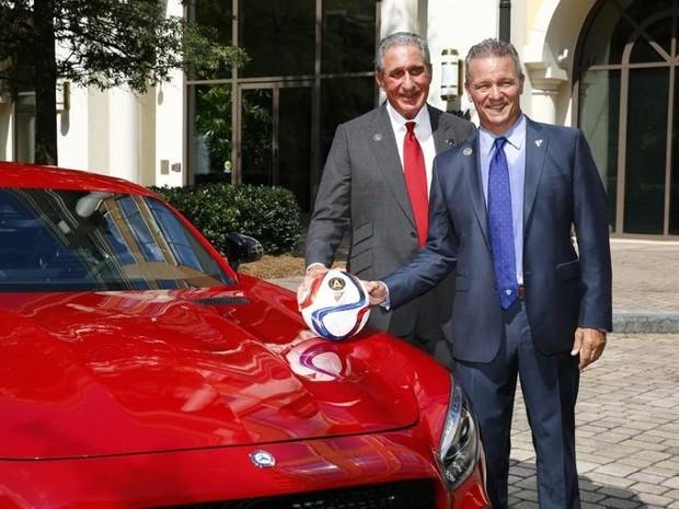 Arthur Blank With Mercedes-Benz CEO Steve Cannon