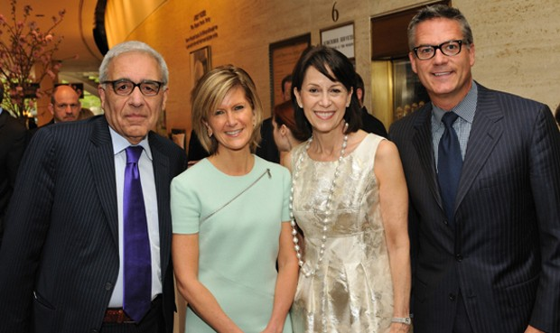 Lincoln Center President Reynold Levy, J.P. Morgan Asset Management CEO, Mary Callahan Erdoes, Lincoln Center Chair Katherine Farley; and Philip Erdoes