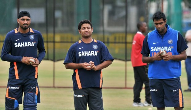 Off-Spinners Ashwin and Bhajji with Leggy Piyush Chawla