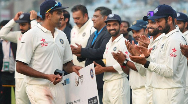 Ashwin got Congratulated By His Teammates