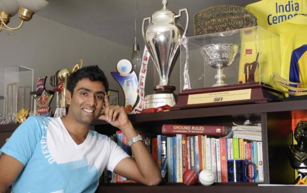 Ashwin with His Trophies