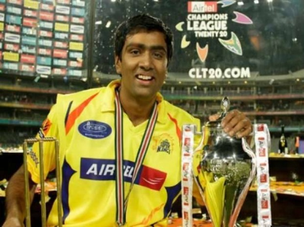 Ashwin with IPL Trophy