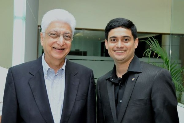 Nakul Shenoy with Azim Premji