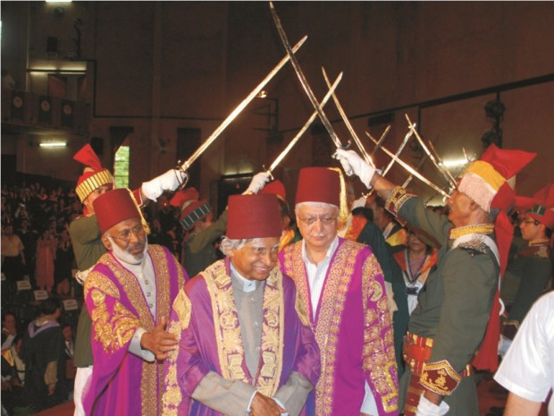 Azim Premji along with Abdul Kalam during AMU Convocation Cermony