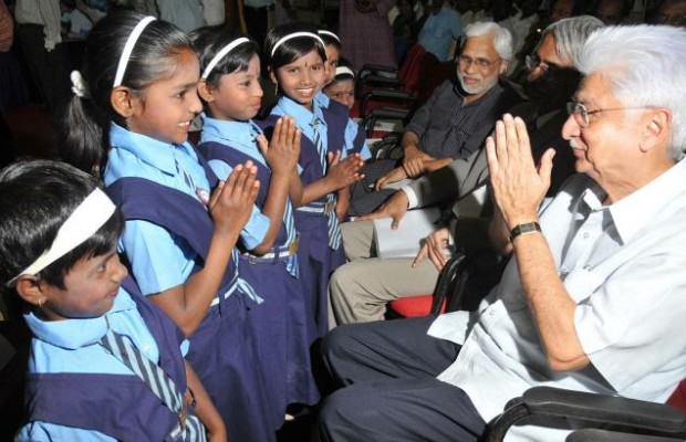 Azim Premji with Kids