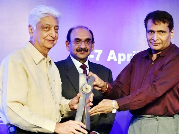 Wipro Chairman Azim Premji was today conferred an award by industry body CII