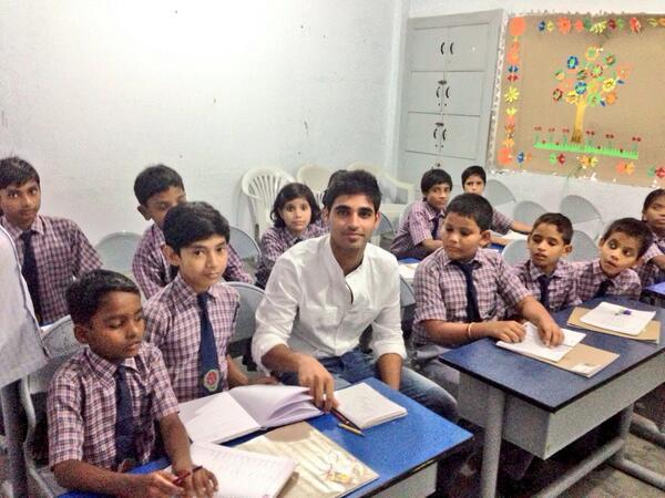 Bhuvi Visits 'Special Needs' Children