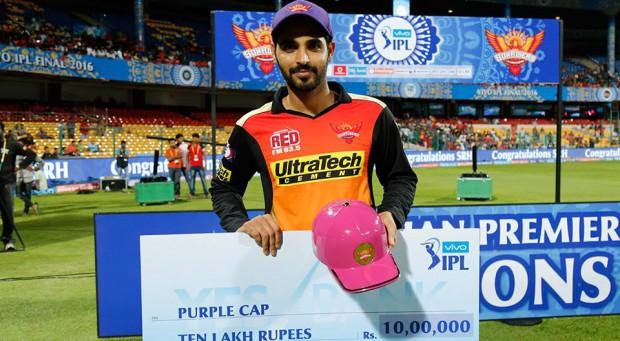Bhuvi with Purple Cap in 2016 IPL