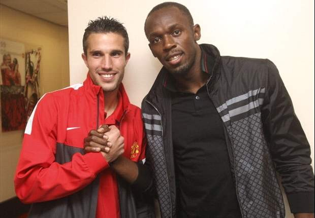 Robin van Persie with Bolt