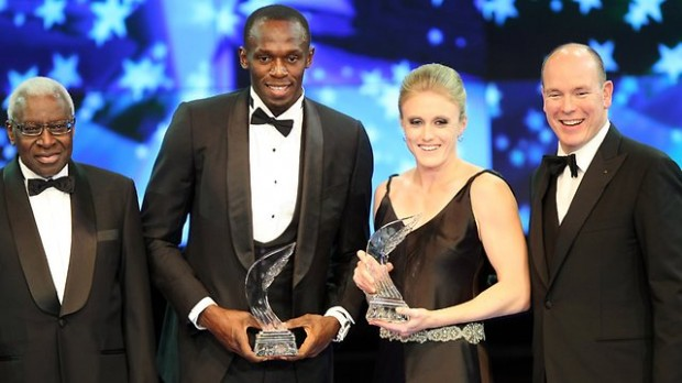 Sally Pearson and Usain Bolt